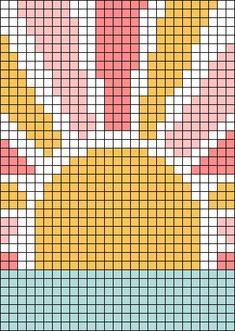 Beaded Cross Stitch, Modern Cross Stitch, Cross Stitch Designs, Cross Stitch Patterns, Diy Embroidery Patterns, Tapestry Crochet Patterns, Beading Patterns, Crochet Wall Art, Crochet Wall Hangings