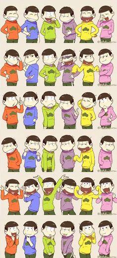 六つ子で なりきり #おそ松さん #Osomatsu-san