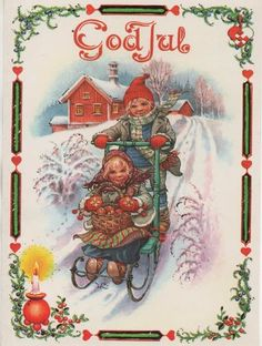 """God Jul means Merry Christmas in Swedish and is pronounced : """"goad yool"""" with the lips pursed and the double o rhyming with the double o in roof. God yul!"""