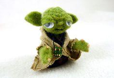 Yoda Finger Puppet - by Megan Jeffery at Bear and Bird Boutique, via Flickr