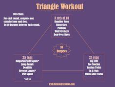 triangle workout #fitfluential @leangreenbean