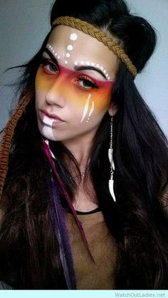Indian Princess inspired makeup for Halloween                                                                                                                                                     More