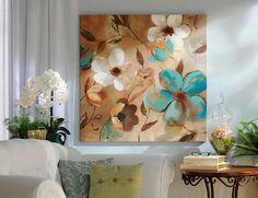 art for my room: Garden Glow Canvas Art Print Canvas Art Prints, Canvas Wall Art, Tree Canvas, Art Plastique, Painting Inspiration, Diy Art, Flower Art, Art Projects, Wall Art Decor