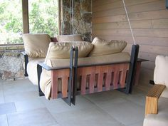 Porch Swing/Bed via Dishfunctional Designs: This Ain't Yer Grandma's Porch Swing! DIY Swing Beds & Chairs