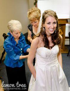 All wedding dresses should have pockets...