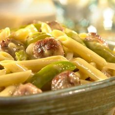 Cheddar Penne With Sausage & Peppers Recipe
