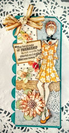 My first Julie Nutting doll tag - Phobe