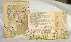 Malerei auf alten Buchseiten