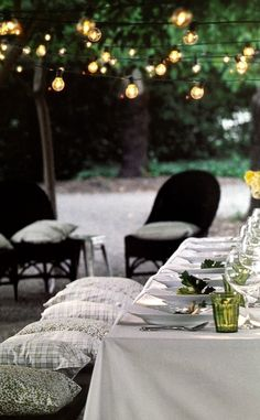 Outdoor Dining Outdoor Rooms, Outdoor Dining, Outdoor Gardens, Indoor Outdoor, Outdoor Dinner Parties, Outdoor Entertaining, Outdoor Settings, Table Settings, Pottery Barn Outdoor