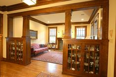Colonnade - Custom Arts & Crafts Millwork by El Dorado Woodworks - Heussner Residence