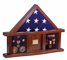 Classic Shadow Box for flags and medals and photo