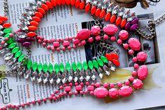 neon rhinestone necklaces.
