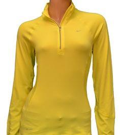 Nike Women's Soft Hand Half Zip Baselayer Shirt-Bright Yellow-Large Nike. Save 17 Off!. $49.98