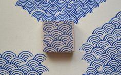 青海波模様(Qinghai wave pattern)stamp