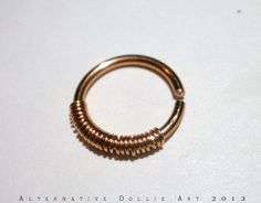 Copper Coil Nose Ring 16g