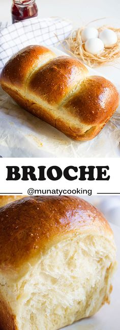 Brioche. Don't wait for hours to proof this beauty. Rich and impressive loaf and it's perfect for making bread pudding and French toast. www.munatycooking.com  @munatycooking #brioche