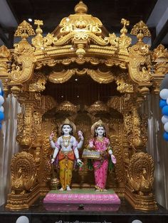 Shree Laxminarayan Dev Darshan -at Shree Swaminarayan Mandir Khandwa Road Indore Mandir Design, Ganapati Decoration, Pooja Mandir, Temple India, Pooja Room Door Design, Lord Krishna Wallpapers, Dream Shower, Diwali Diy, Puja Room