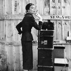 Givenchy's muse - the popular Parisian model, Bettina Graziani.