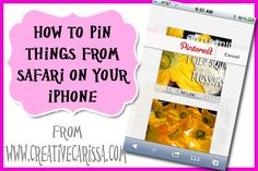 How to Pin Things to Pinterest from Your iPhone ~ Carissa's Creativity Space
