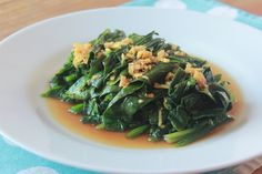 Sesame Spinach in Ginger Sauce