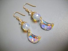 Over The Moon Opalite Swarovski and Silver by Beads4You2008,