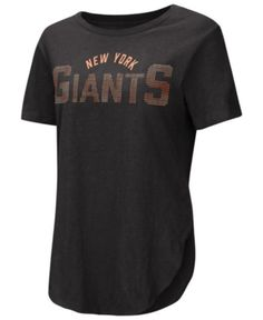 Touch by Alyssa Milano Women s New York Giants Touch Rosegold Stone T-Shirt  - Black a7b3019e0