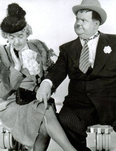 Laurel and Hardy from the Movie Jitterbugs 1943