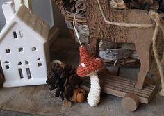 ma.k / Vianočná dekorácia muchotrávka Gingerbread, Ale, Handmade, Hand Made, Ginger Beard, Ale Beer, Ales, Handarbeit, Beer