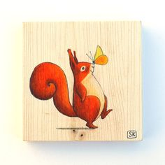 NURSERY SQUIRREL DECOR Woodland Baby shower gift. Cute by Ciacio