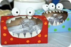 Such a cute idea for a kids Halloween party or birthday monster party! to their -halloween time! Monster First Birthday, Monster Birthday Parties, First Birthday Parties, First Birthdays, Birthday Ideas, 2nd Birthday, Birthday Decorations, Halloween Decorations, Monster Decorations