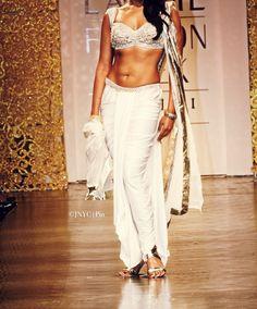 Sensual white Indian outfit -ramp walk