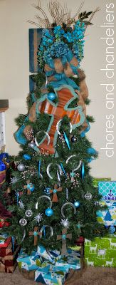 Rustic, cross and turquoise CHRISmas!!!!
