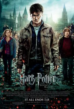 Directed by David Yates. With Daniel Radcliffe, Emma Watson, Rupert Grint, Michael Gambon. Harry, Ron and Hermione search for Voldemort& remaining Horcruxes in their effort to destroy the Dark Lord as the final battle rages on at Hogwarts. Harry Potter Poster, Harry Potter 7, Harry Harry, Harry James, James Potter, Michael Gambon, Deathly Hallows Part 2, Harry Potter Deathly Hallows, Harry Potter Jk Rowling