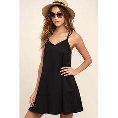 RVCA Naveena Black Shift Dress (€40) ❤ liked on Polyvore featuring dresses, braid dress, shift dresses, woven dress, rvca dresses and triangle dress