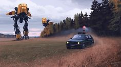 Awesome artwork by Simon Stålenhag of Sweden