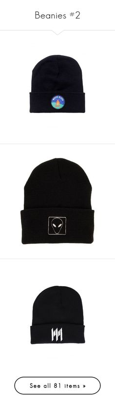 """""""Beanies #2"""" by cecebvb ❤ liked on Polyvore featuring accessories, hats, bmth, beanie cap hat, logo beanie hats, beanie hats, embroidered beanie, embroidered knit hats, beanie caps and long beanie hat"""