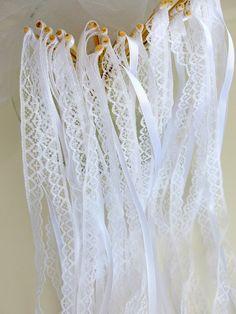 décoration mariage 20 Baguettes pour mariage Rubans Dentelle pour Haie d'honneur mariage