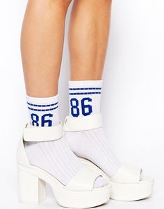 ASOS Socks with Number 86 Print