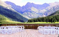 Vail, CO Destination Wedding...this is where I wanna get married! I have been here and it is BEAUTIFUL!