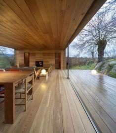 Wooden ceiling wooden floors