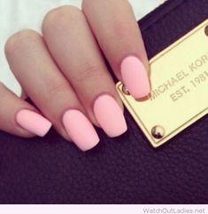 Sweet pink matte pastel nails