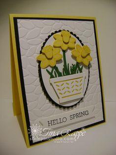 Stampin' Up! Basket Bunch Bundle, Spring Card, Stampin' Studio