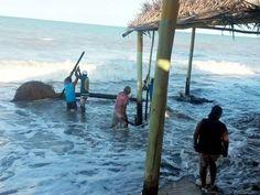 Força da maré provoca estragos no município de Prado