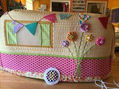 Airstream camper sewing machine cover.