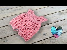 """Hello everybody, """"Lidia Crochet Tricot (Lidia Crochet Knitting) is a channel where you can find many knitting tutorials (with a crochet, with the hooks, even. Crochet Girls Dress Pattern, Baby Romper Pattern, Crochet Patterns, Crochet Baby Blanket Beginner, Basic Crochet Stitches, Crochet Diy, Crochet For Kids, Youtube Crochet, Bernat Baby Yarn"""