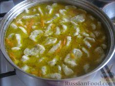 Фото приготовления рецепта: Суп с чесночными галушками - шаг №11
