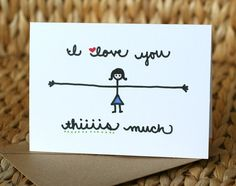 I Love You Thiiiis Much Girl Love Card di SARNSTIE su Etsy
