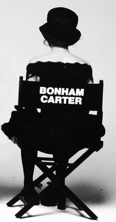 Helena Bonham Carter! I love those kinda chairs! :D <3