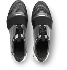 Balenciaga - Leather, Suede and Mesh Sneakers.
