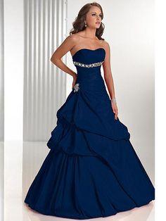Generous Indigo Ballgown Strapless Sweetheart Tiered Crystals Working Prom Dress